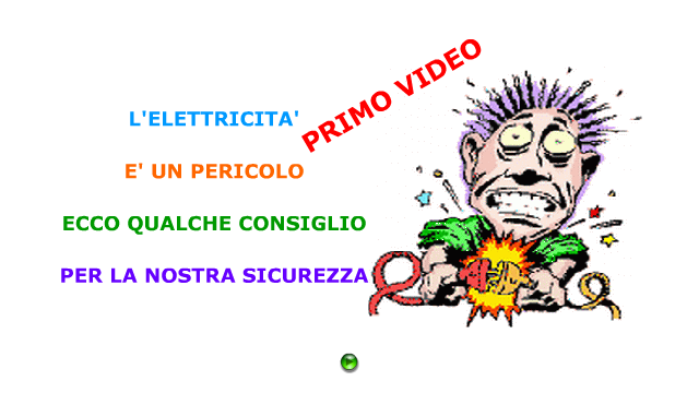 COME DIFENDERSI DAI PERICOLI DELL'ELETTRICITA': PRIMO VIDEO