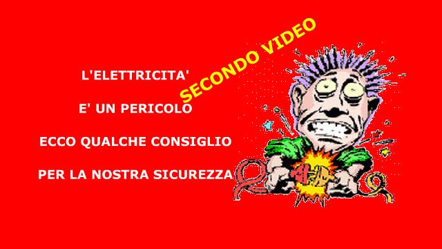 COME DIFENDERSI DAI PERICOLI DELL'ELETTRICITA': SECONDO VIDEO